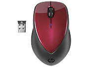 HP x4000 Wireless Mouse (Ruby Red) with Laser Sensor