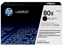 HP 80X High Yield Black Original LaserJet Toner Cartridge, CF280X