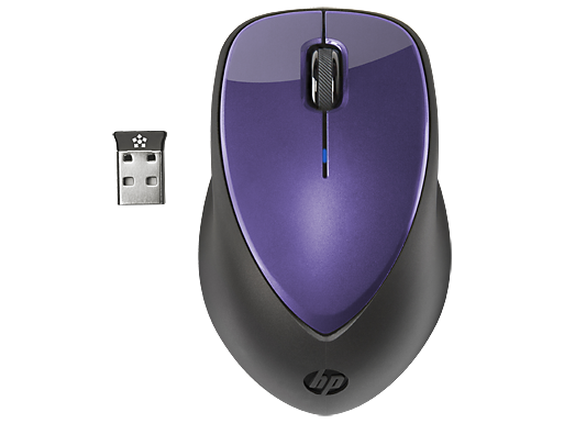 HP x4000 Wireless Mouse (Bright Purple) with Laser Sensor