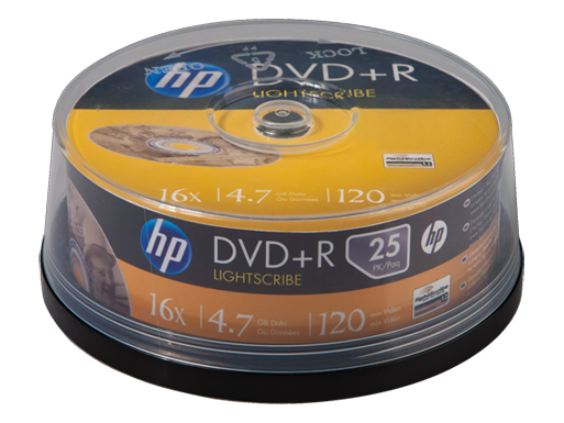 HP DVD+R with LightScribe Media