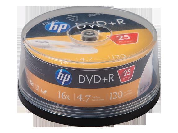 HP DVD+R Media - 25 Pack
