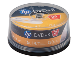 HP DVD+R Media - 25 Pack