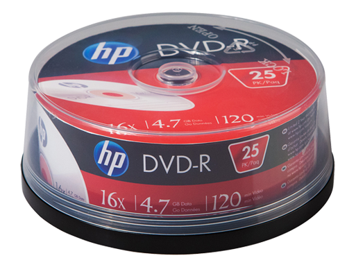 HP DVD-R Media - 25 Pack