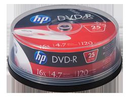 HP DVD-R Media - 25 Pack