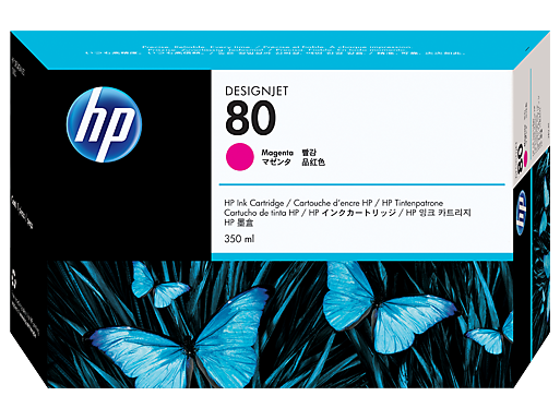 HP 80 350-ml Magenta Ink Cartridge