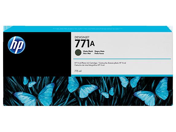 HP 771A 775-ml Matte Black DesignJet Ink Cartridge