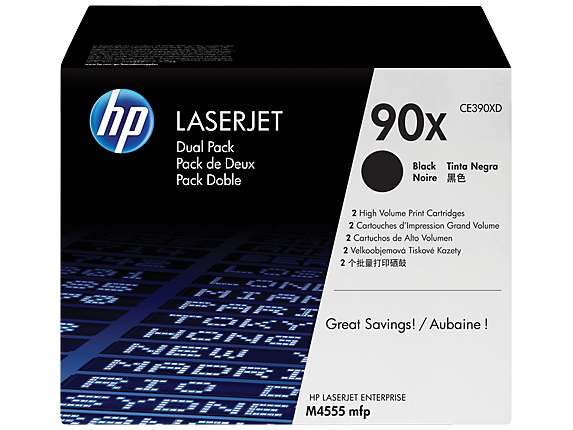 HP 90X Black Dual Pack LaserJet Toner Cartridges