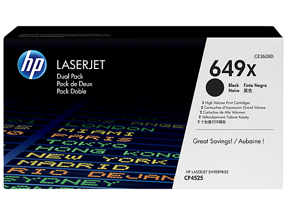 HP 649X Black Dual Pack LaserJet Toner Cartridges