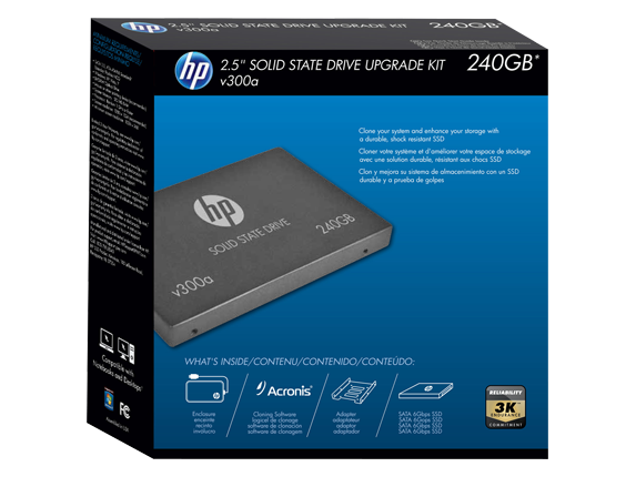 HP v300a 240GB SATA Solid State Drive with Upgrade Kit