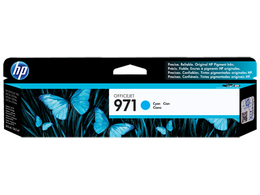 HP 971 Cyan Original Ink Cartridge