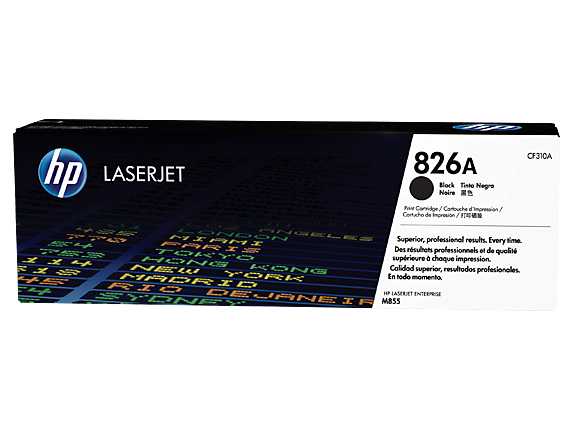 HP 826A Black Original LaserJet Toner Cartridge, CF310A