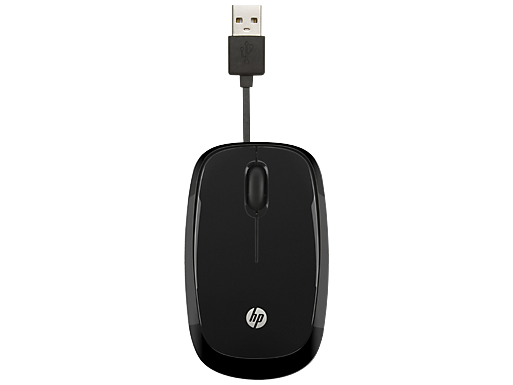 HP X1250 Black Wired Mouse