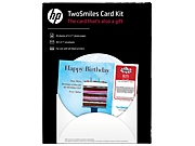 HP TwoSmiles Card Kit-10 sht/5 x 7-in with envelo
