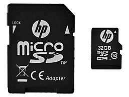 HP High Speed Flash Memory mi200 32 GB MicroSDHC Card