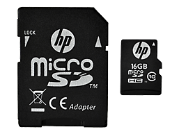 HP High Speed Flash Memory mi200 16 GB MicroSDHC Card