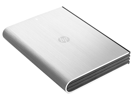 HP p2100 Series 1TB Silver Portable Hard Drive