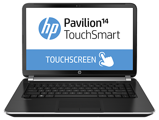 "HP Pavilion TouchSmart 14z-n100 14"" Touchscreen Laptop with AMD APU Quad-Core A4-5000 / 12GB / 500GB / Win 8"