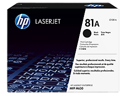 HP 81A Black Original LaserJet Toner Cartridge, CF281A