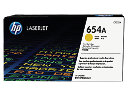 HP 654A Yellow Original LaserJet Toner Cartridge, CF332A