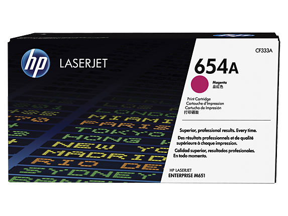 HP 654A Magenta Original LaserJet Toner Cartridge, CF333A