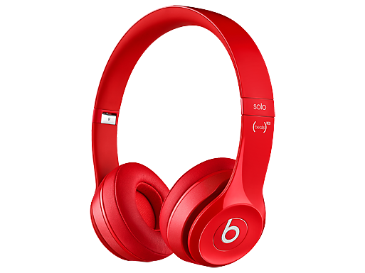 Beats Solo 2 On-Ear Red Headphones