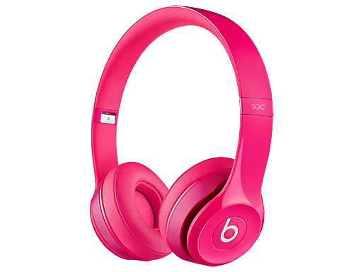 Beats Solo 2 On-Ear Pink Headphones