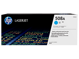 HP 508A Cyan Original LaserJet Toner Cartridge, CF361A