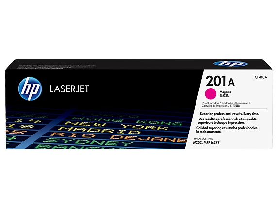HP 201A Magenta Original LaserJet Toner Cartridge, CF403A