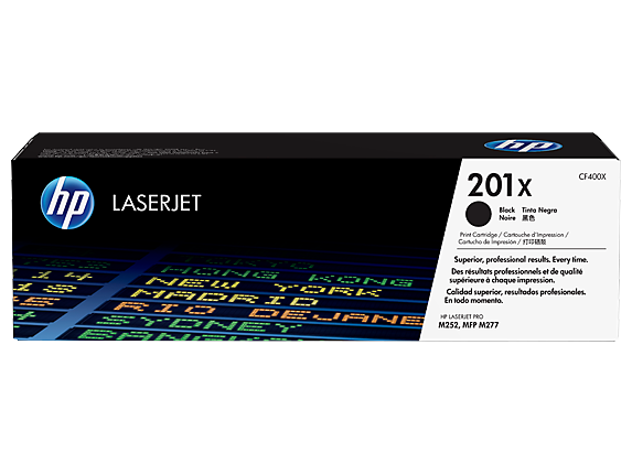 HP 201X High Yield Black Original LaserJet Toner Cartridge, CF400X