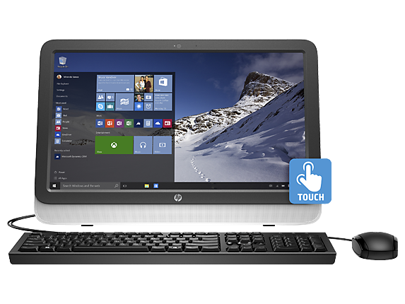 "HP Essential Home 20tw Touch 20"" Intel Core i3 Touchscreen All-in-One Desktop"