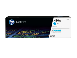 HP 410A Cyan Original LaserJet Toner Cartridge, CF411A