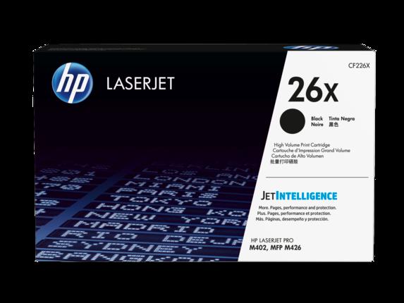 HP 26X High Yield Black Original LaserJet Toner Cartridge, CF226X