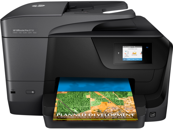 how to connect hp 8600 printer to internet