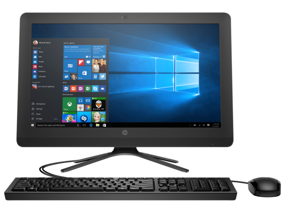 "HP Essential 24-e005z 21.5"" FHD AMD Quad Core A6 All-in-One"
