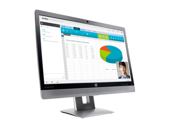HP EliteDisplay E240c 23.8-inch Video Conferencing Monitor