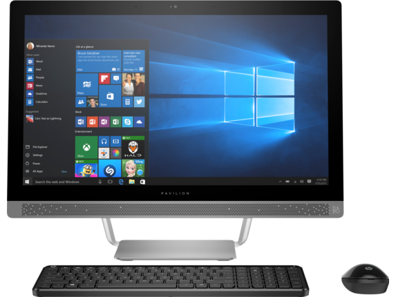 "HP Pavilion 24-b240qe 23"" FHD All-in-One with Intel Core i5-7400T / 12GB / 1TB / Win 10 / 2GB Video"