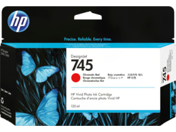 HP 745 130-ml DesignJet Chromatic Red Ink Cartridge