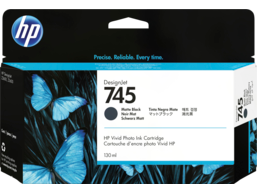 HP 745 130-ml DesignJet Matte Black Ink Cartridge
