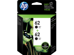 HP 62 2-pack Black Original Ink Cartridges