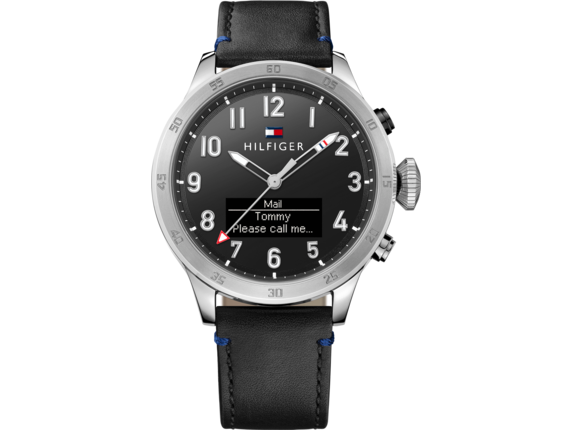 Tommy Hilfiger TH24/7 Smart Watch - Stainless Black Strap