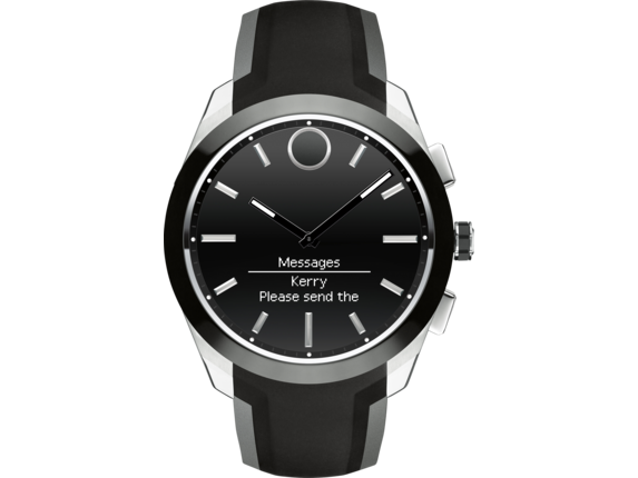 Movado Bold Connected II - Steel/Black Strap