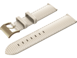 Isaac Mizrahi Cream Lizard Strap with Gold Buckle