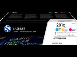HP 201X 3-pack High Yield Cyan/Magenta/Yellow Original LaserJet Toner Cartridges