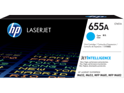 HP 655A Cyan Original LaserJet Toner Cartridge, CF451A