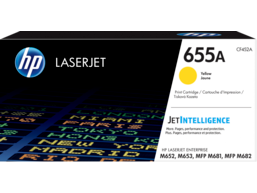 HP 655A Yellow Original LaserJet Toner Cartridge, CF452A