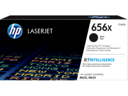 HP 656X High Yield Black Original LaserJet Toner Cartridge, CF460X