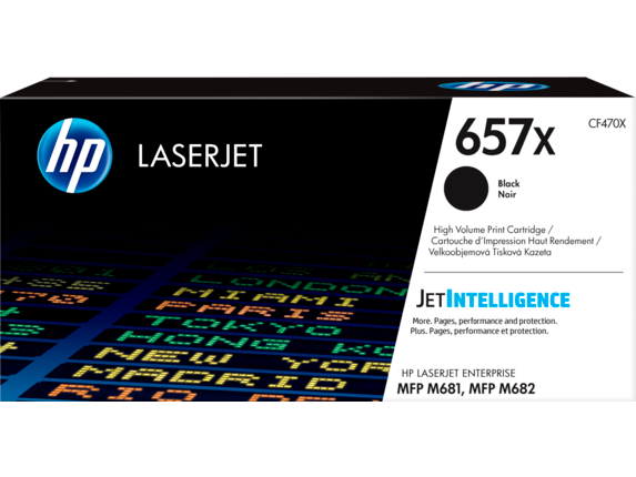 HP 657X High Yield Black Original LaserJet Toner Cartridge, CF470X