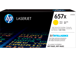 HP 657X High Yield Yellow Original LaserJet Toner Cartridge, CF472X