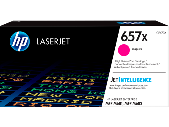 HP 657X High Yield Magenta Original LaserJet Toner Cartridge, CF473X
