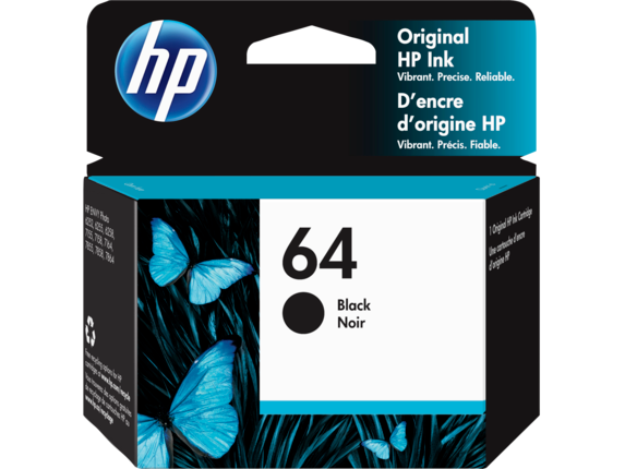 HP 64 Black Original Ink Cartridge